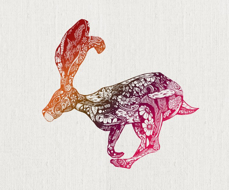 Screen Printed Hare