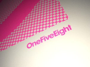 OneFiveEight screen printed logo detail