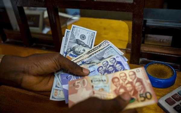 The Ghana cedis has fallen against the dollar