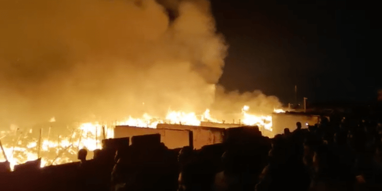 VIDEO: Fire outbreak at the main Kantamanto Market