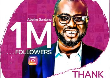 Abeiku Santana becomes the first Male Radio Personality to hit 1 million Instagram followers