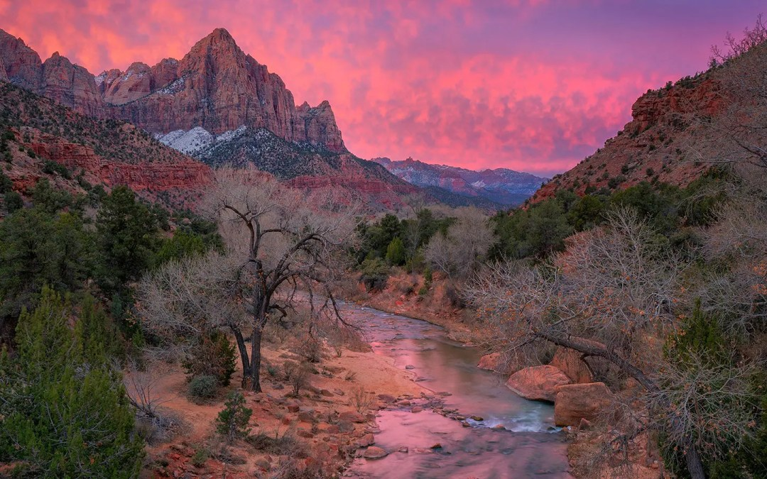 Visiting Zion National Park in the Middle of Winter