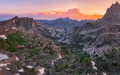 Teton Crest Trail, Day 3 – Sunrise atop Hurricane Pass