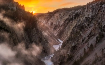 An Incredible Sunrise at the Grand Canyon of the Yellowstone