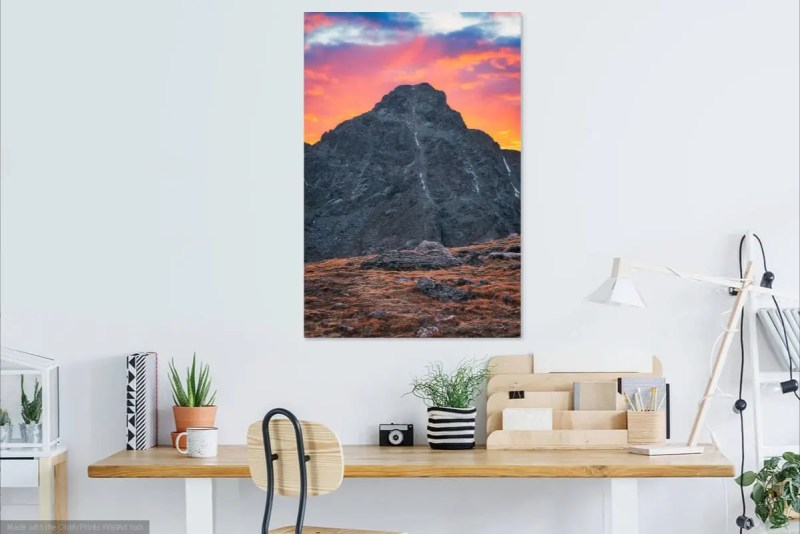 Divine Sunset mt of the holy cross colorado fine prints wall art