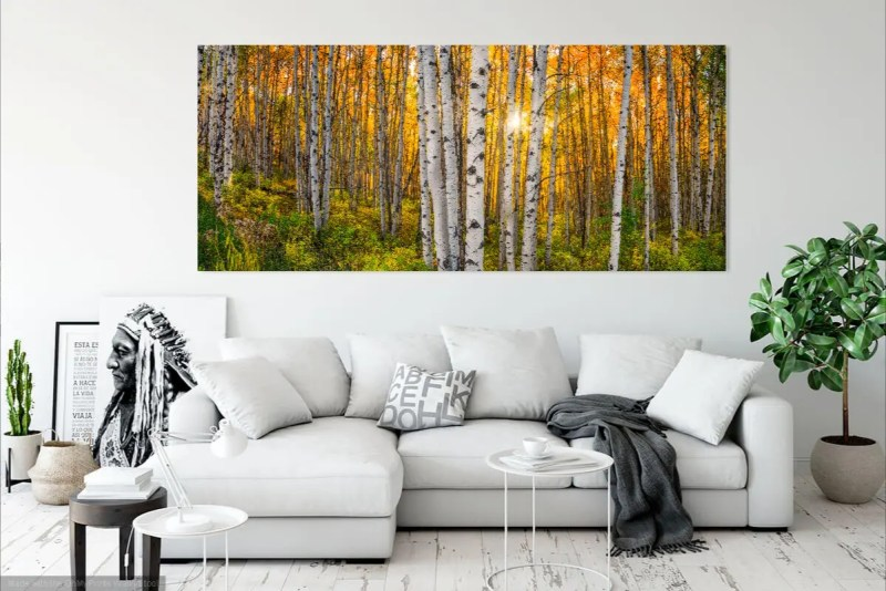 Beaver Creek Colorado Aspens Panorama Shop Fine Prints Wall Art