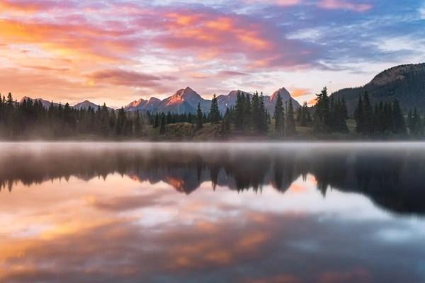 Molas Lake Sunrise Reflection Silverton Colorado Fine Prints Wall Art