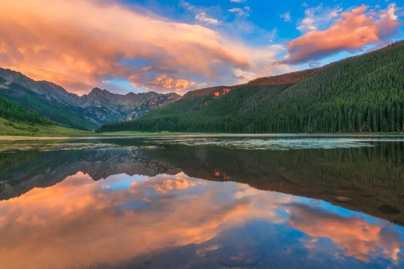 Piney Lake Mirror Vail Colorado Fine Prints Wall Art