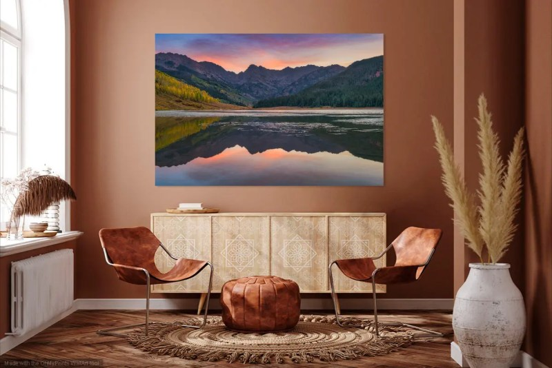 Piney Lake Sunrise Vail Colorado Fine Prints Wall Art