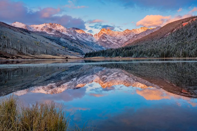 First Snow on Piney Lake Vail Colorado Fine Prints Wall Art