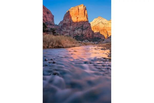 Angels Landing Virgin River Zion National Park Utah Fine Prints Wall Art