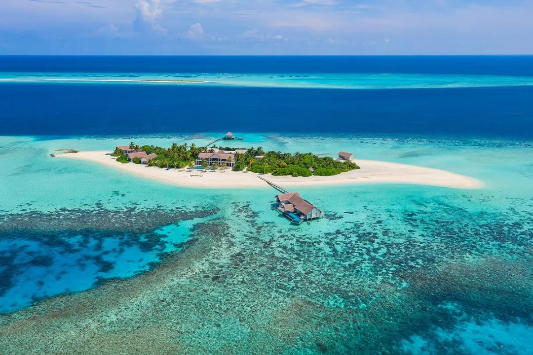 Drone Photography Four Seasons Maldives Private Island at Voavah