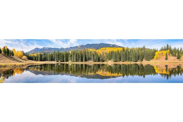 Beaver Lake Panorama Silverjack Colorado