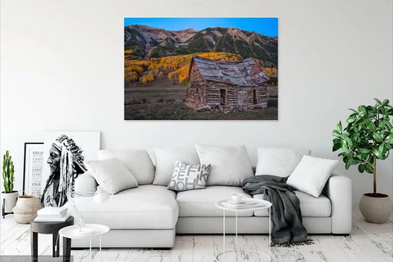 Crested Butte Historic Cabin Colorado Fall Colors Mockup