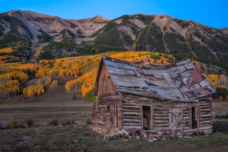 Crested Butte Historic Cabin Colorado Fall Colors