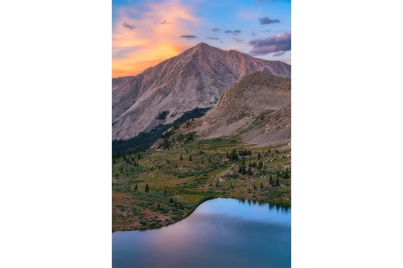 Huron Peak Sunset Collegiate Peaks Wilderness Colorado