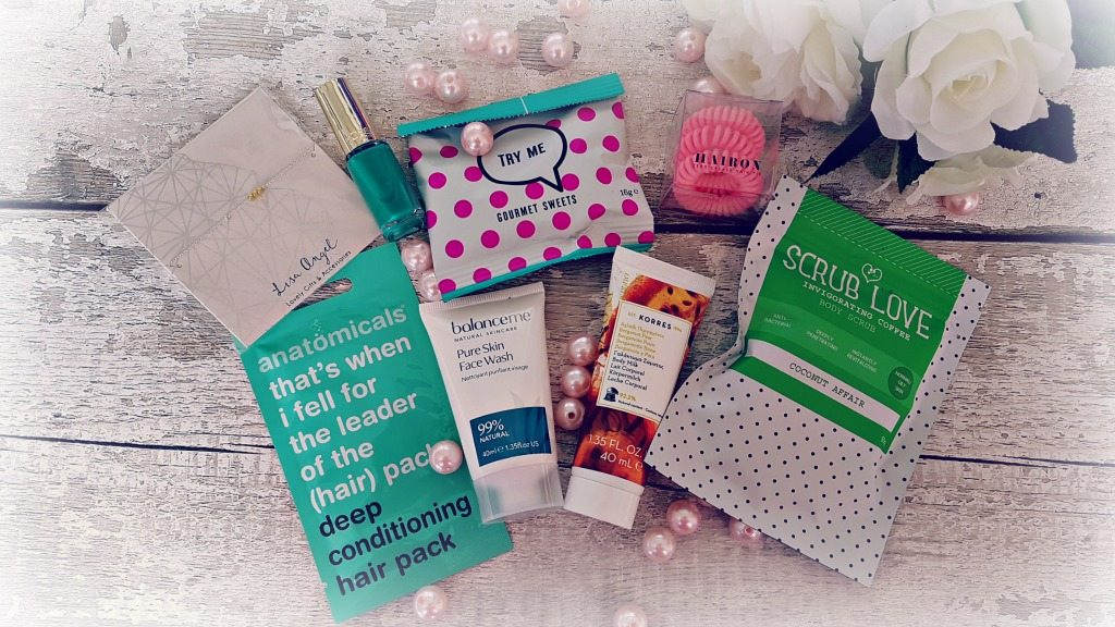 a selection of items in a betty box subscription box