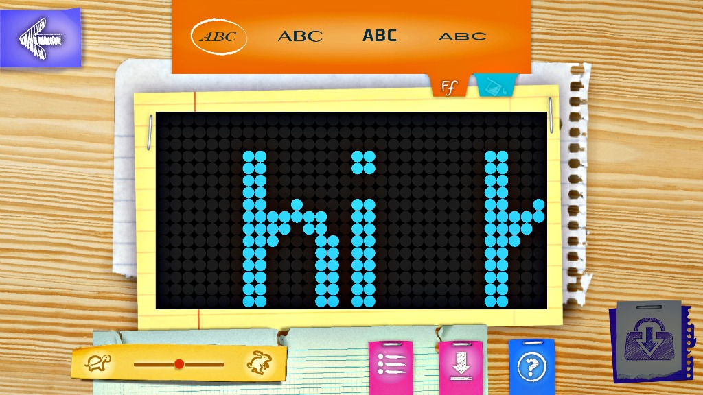 screenshot of an app for the mc2 pixel purse show how to create your own design