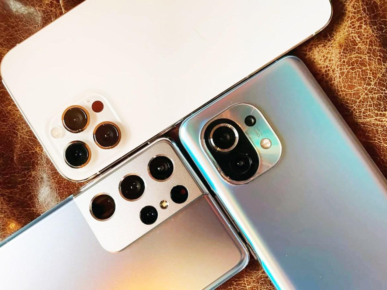 iPhone 12 Pro Max、三星Galaxy S21 Ultra、小米11拍照能力比一比