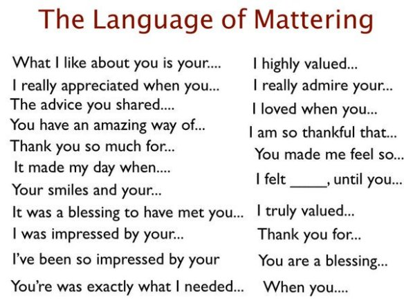 The language of mattering
