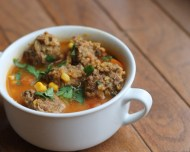 Albondigas Soup https://onegirlstasteonlife.wordpress.com/2012/10/22/three-little-soups-part-2/