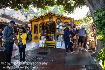Olvera Street and La Plaza area
