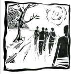 Woodblock journeying together