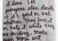 don't just think about making art