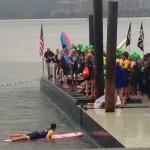 NYC Triathlon Swim Start