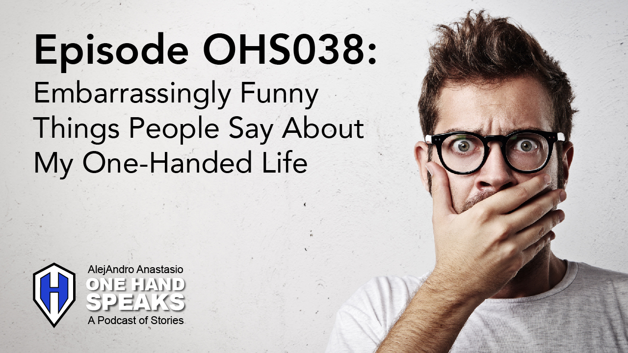 conversation, speech, mistake, podcast, disability, one hand, embarrassing, storytelling