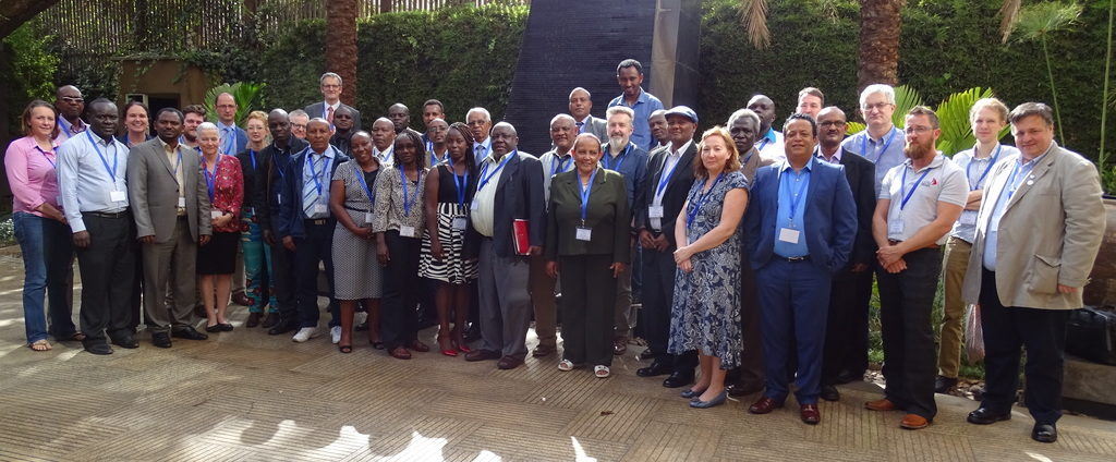 Image of staff and associates at HORN Project launch event in Kenya
