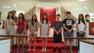 선발된 7명의 학생들
