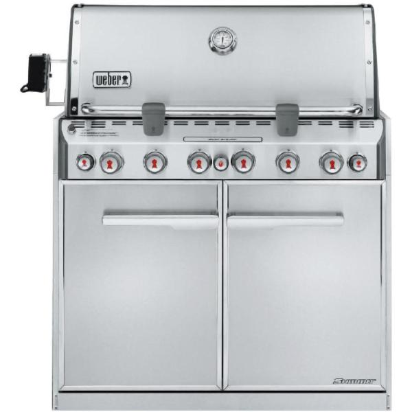 Weber Summit S-660 Built-In Propane Gas Grill With Rotisserie & Sear Burner