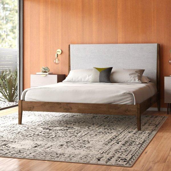 Platt+Upholsterd+Platform+Bed