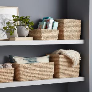 Hand-Woven Palm Leaf Baskets