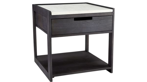 Tux Marble Top Nightstand Table