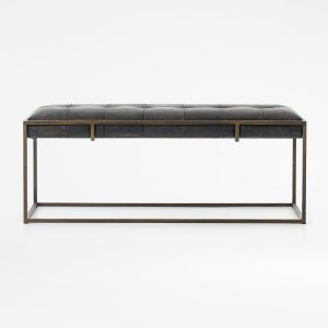 Ottilie Leather Bench