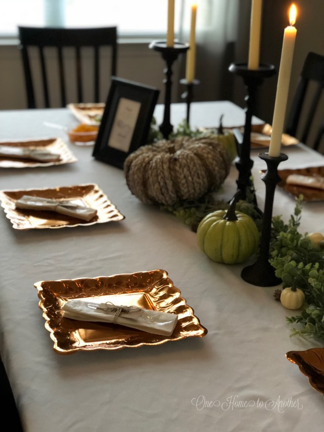 Quick and Easy Thanksgiving Place Setting