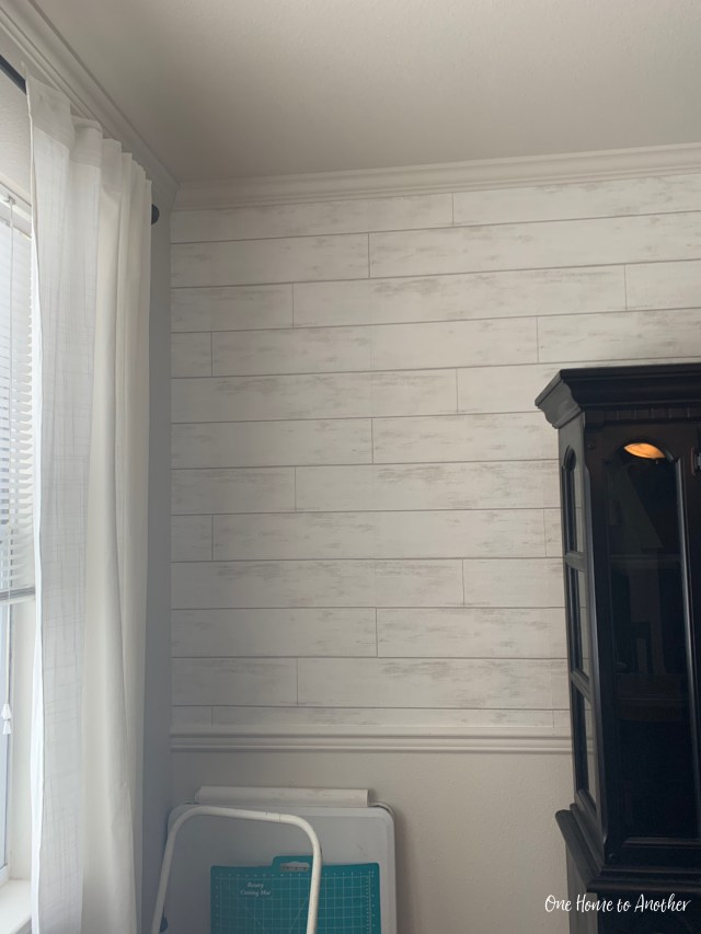 My DIY and Review of Magnolia Home Shiplap Wallpaper - One
