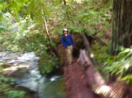 How it felt walking over the natural bridge...dizzy!