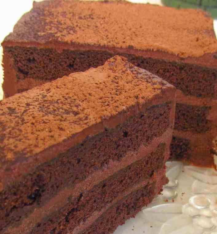 Chocolate-Torte-slice