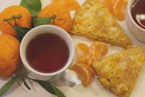 mandrian orange scones with tea