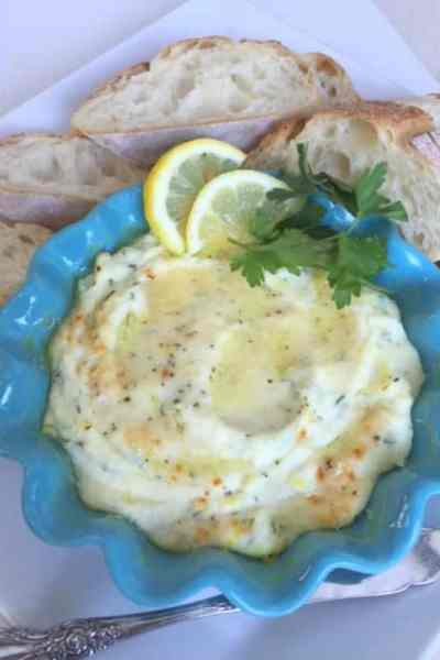 Ricotta Baked with Lemon and Herbs Appetizer