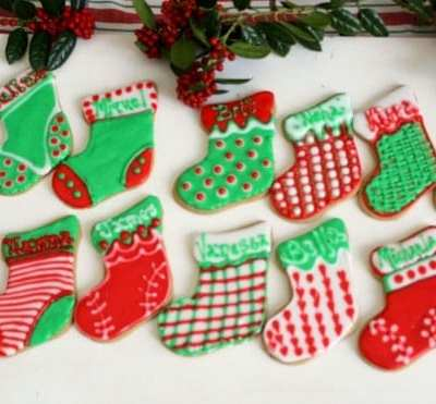 Spice Christmas Stocking Cookies