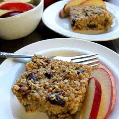 Baked Oatmeal with Applesauce