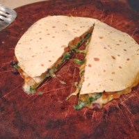 Pumpkin and Spinach Quesadilla