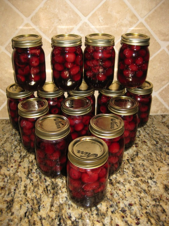 how to can cherries