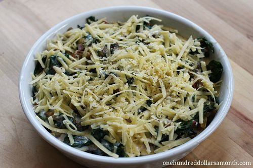 rainbow swiss chard and cheese gratin recipe