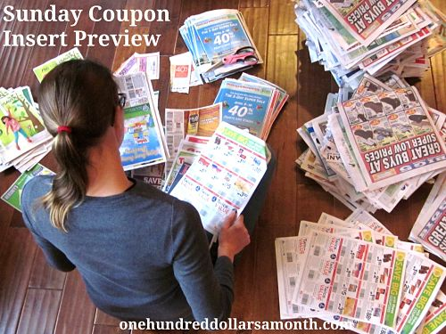 Sunday coupon insert preview_opt