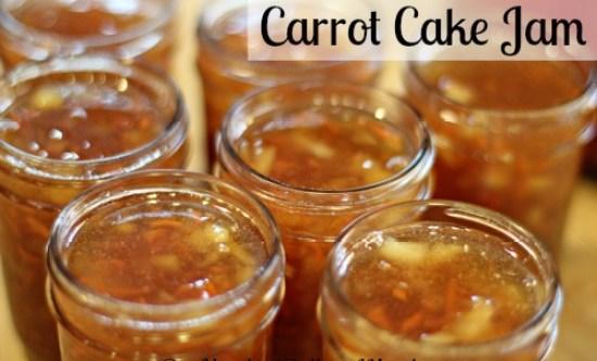 carrot cake jam recipe canning